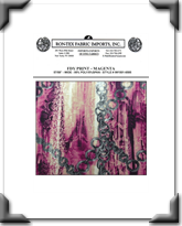 FDY Print - Style # IW1501-6585 - Magenta