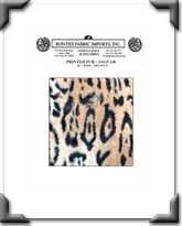 Printed Fur - Jaguar