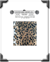 Printed Fur - Striped Leopard
