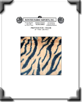 Printed Fur - Tiger
