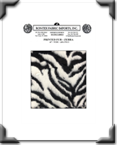Printed Fur - Zebra
