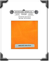 Solid Polar Fleece - Bright Orange