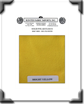 Solid Polar Fleece - Bright Yellow