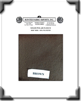 Solid Polar Fleece - Brown