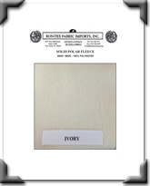 Solid Polar Fleece - Ivory