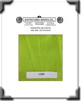 Solid Polar Fleece - Lime