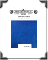 Solid Polar Fleece - Royal