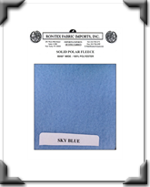 Solid Polar Fleece - Sky Blue